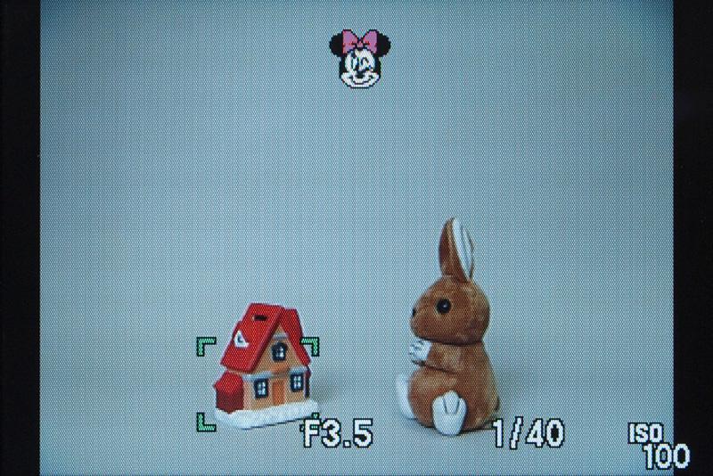 <b>半押し時に表示されるフォーカスアイコンは、ディズニーキャラクター(5種類)を含む6種類から選択可能</b>