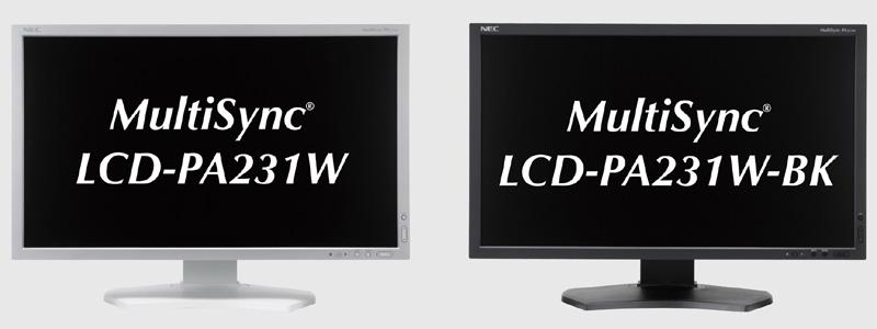 <b>MultiSync LCD-PA231W(左)、同LCD-PA231W-BK(右)</b>