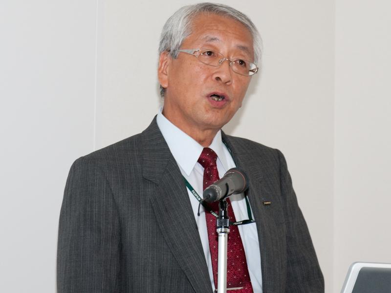 <b>執行役員 イメージング事業部長の関口伸永氏</b>