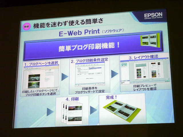 <b>ブログ印刷機能が利用できる</b>