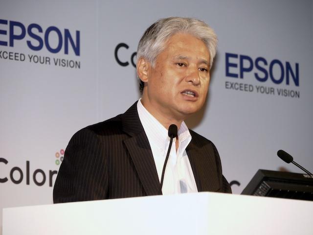 <b>エプソン販売株式会社代表取締役社長の平野精一氏</b>