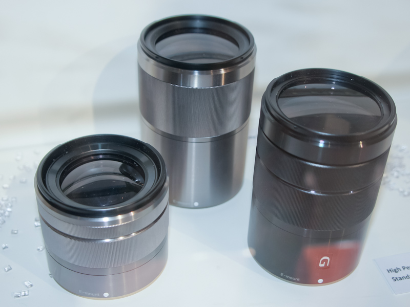 <b>2012年に発売予定のレンズ3本。Gレンズ標準ズームレンズ、広角ズームレンズ、単焦点の中望遠レンズ</b>