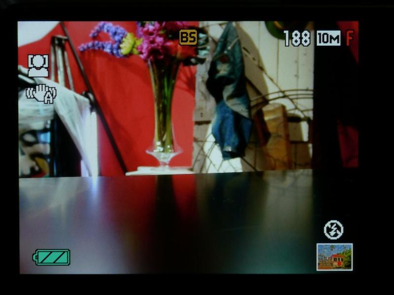 <b>HDRアートのライブビューは、通常と変わらない。画角が若干狭くなる</b>