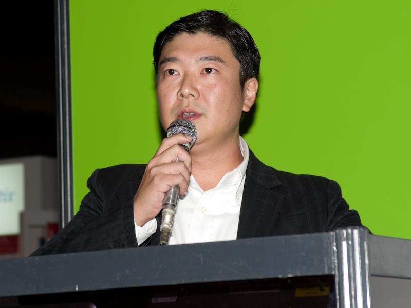<b>アイファイジャパン代表取締役社長の田中大祐氏</b>