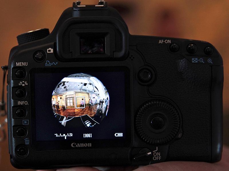 <b>EOS 5D Mark IIで8mmにしたところ。全周魚眼になる</b>
