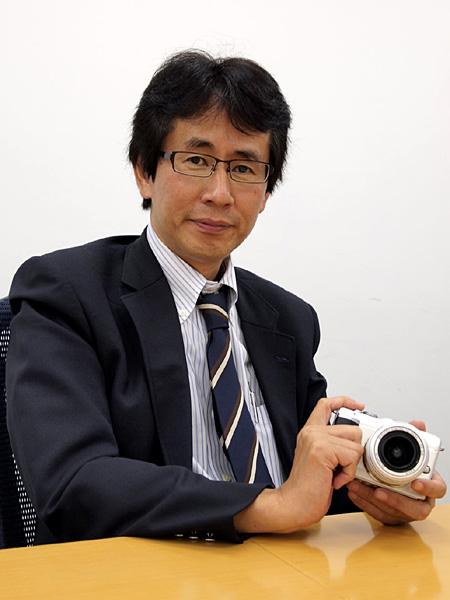 <b>オリンパスイメージング SLR商品企画部長の杉田幸彦氏</b>