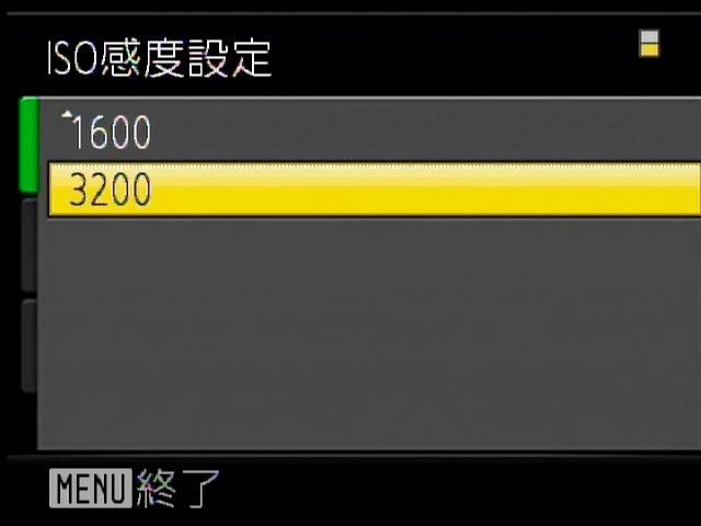 <b>最高ISO3200での撮影が可能</b>