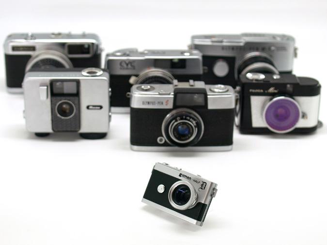 <b>「高度成長期に一世を風靡したハーフカメラをデジカメで復活させました」(同社)</b>