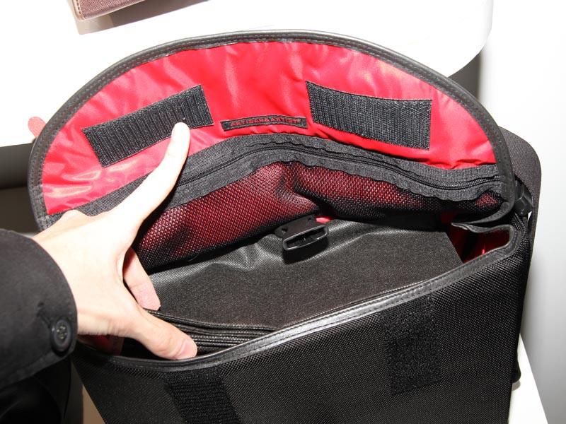 <b>メッセンジャーバッグ PA-AA-E2の内部</b>