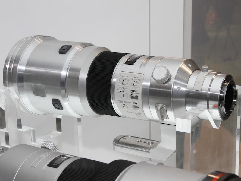 <b>超望遠Gレンズ500mm F4 Gの試作モデル</b>