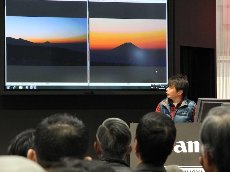 <b>取材時は秦達夫氏による「夕景・夜景の撮り方」セミナーが開催</b>