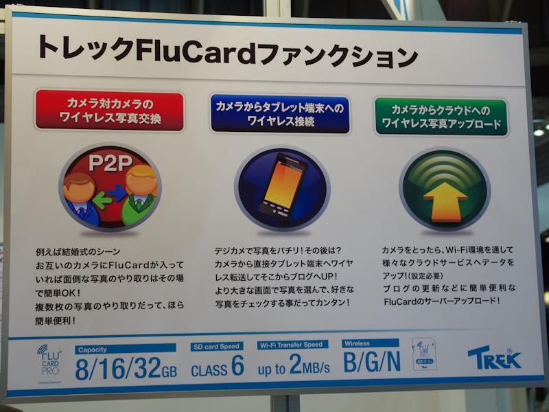 <b>FluCardで撮影した画像をパソコンで閲覧できるデモを実施していた</b>