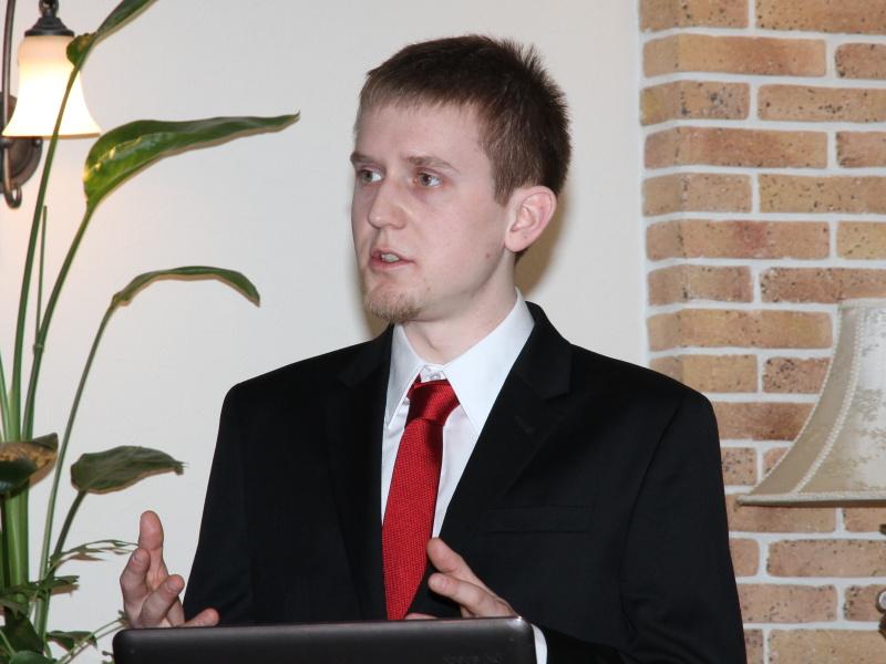 <b>開発者のPhilipp Affeltranger氏が製品紹介とデモを行なった</b>