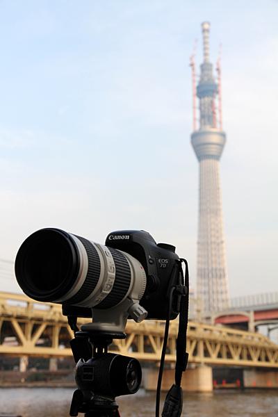 <b>撮影時(2月上旬)の高さは569mになっていた</b>