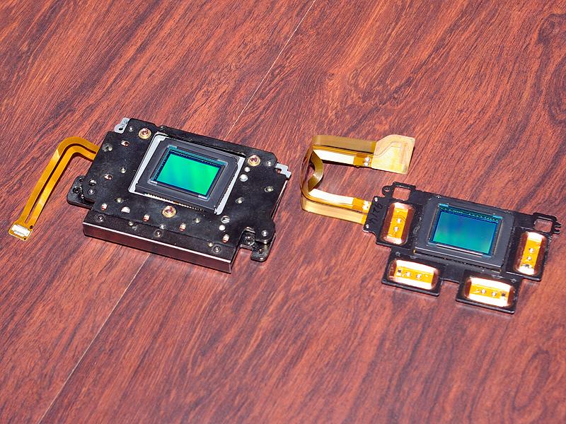 <b>SRユニット。右はセンサーが載った可動部分</b>