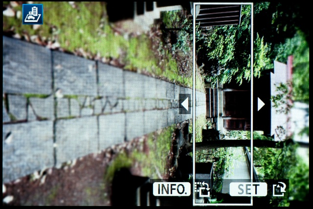 <b>【EOS Kiss X5】「ジオラマ風」は縦位置と横位置、シャープに残す範囲を選べる</b>