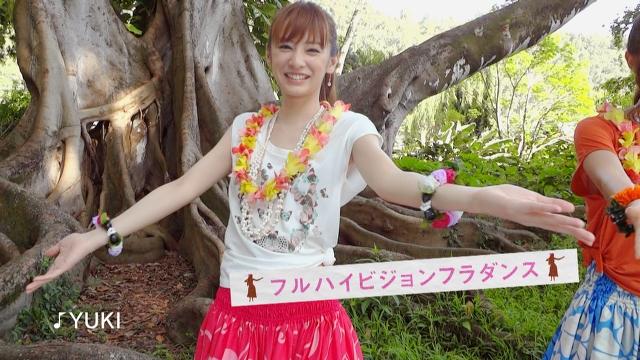<b>新CMでフラダンスを披露する北川景子さん</b>
