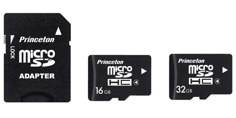 <b>PMSDHC/4シリーズと付属のSD変換アダプター(左)</b>