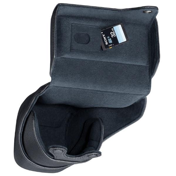 <b>本革製レンズジャケット「LCS-EL70」。11月11日発売。1万2,600円。Sonnar T* E 24mm F1.8 ZAまでのレンズ装着したまま収納できる</b>