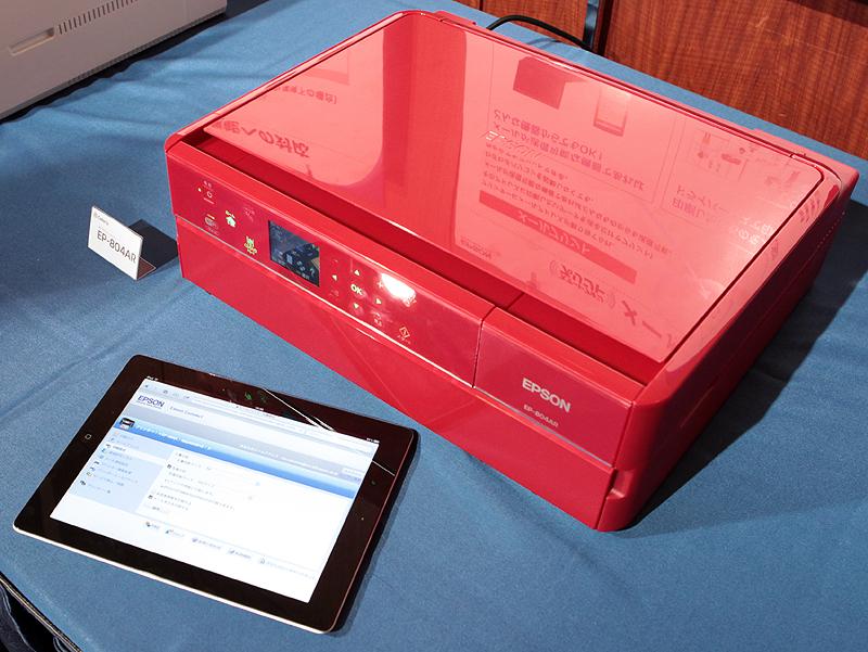 <b>会場ではiPadからプリントするデモを行なっていた</b>