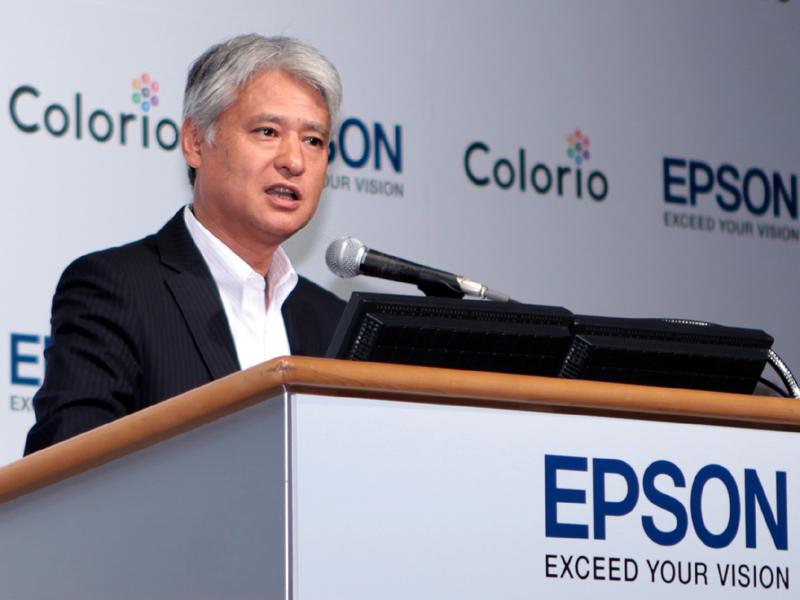 <b>エプソン販売代表取締役社長の平野清一氏</b>