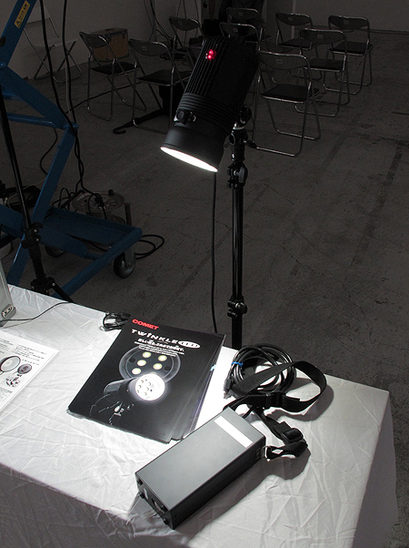 <b>TWINKLE LEDを点灯させたところ</b>