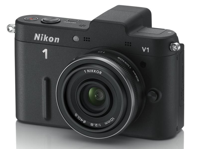 <b>Nikon 1 V1(ブラック)レンズは「1 NIKKOR 10mm F2.8」</b>