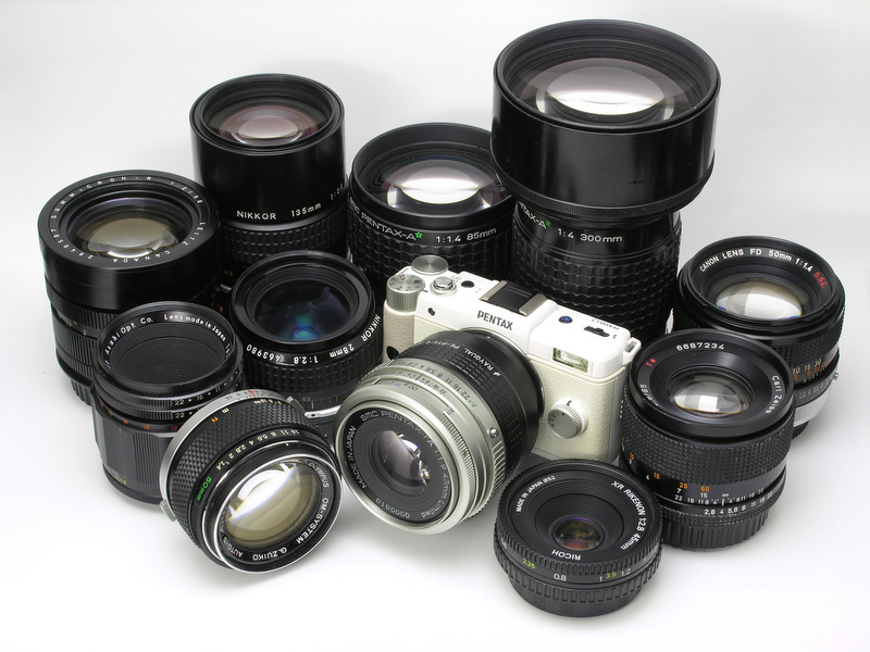 <b>今回試用した35mm一眼レフカメラ用のレンズ</b>