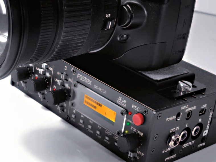 <b>デジタル一眼レフカメラに装着したところ</b>