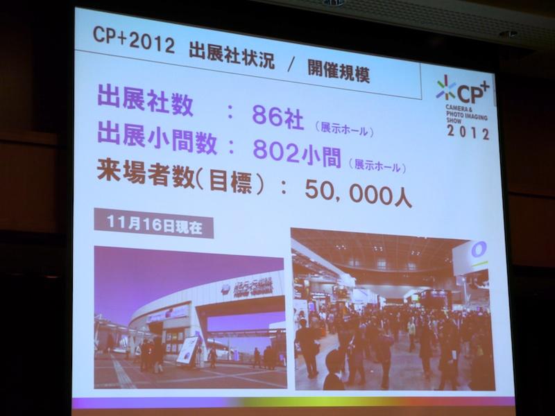 <b>CP+2012出展者状況/開催概要</b>