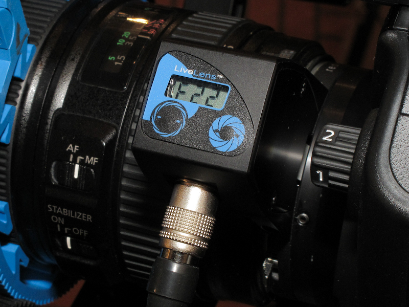 <b>コントローラー部分に絞り値が表示される。絞りは2つのボタンでコントロールする</b>