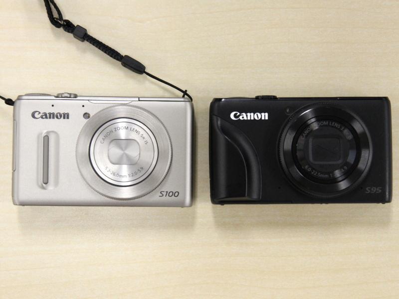 <b>新旧モデルの図。右のS95には社外製のS90用グリップを流用している</b>