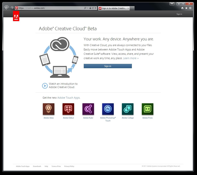 <b>まだ英語版だが、Creative Cloudのベータサービスが利用できる</b>
