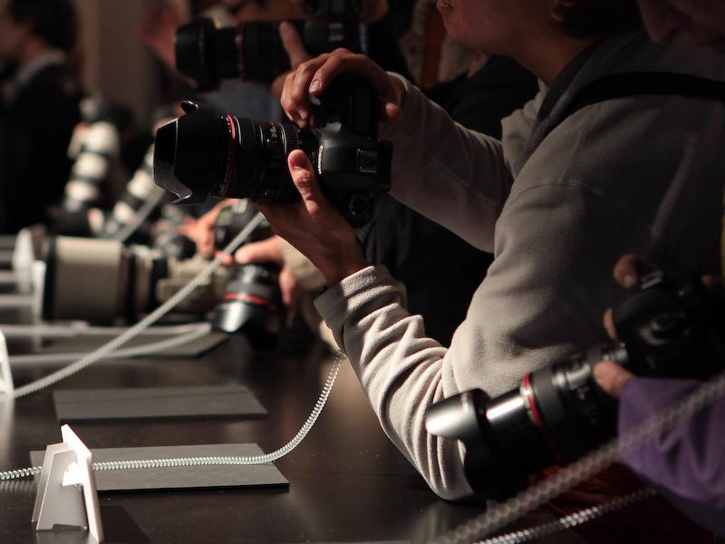 <b>撮影体験コーナーは踊るバレリーナを被写体に撮影できる</b>