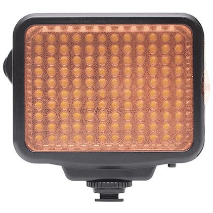 <b>PROFESSIONAL VIDEO LIGHT 5009(UNX-7828)。オレンジフィルターを装着したところ</b>