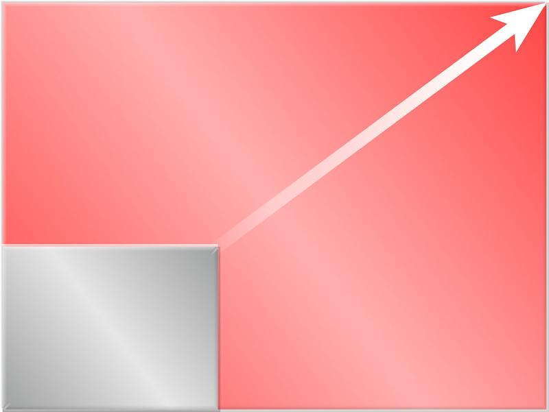 <b>1.5型センサーは、1/1.7型に比べて面積で約6.3倍大きい</b>
