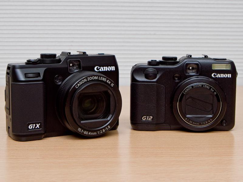 <b>PowerShot G12(右)との比較</b>
