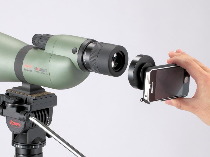 <b>デジタルカメラアダプターを介して取り付ける</b>