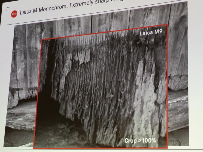 <b>同じ被写体で解像感を比較。写真はライカM9の等倍表示</b>