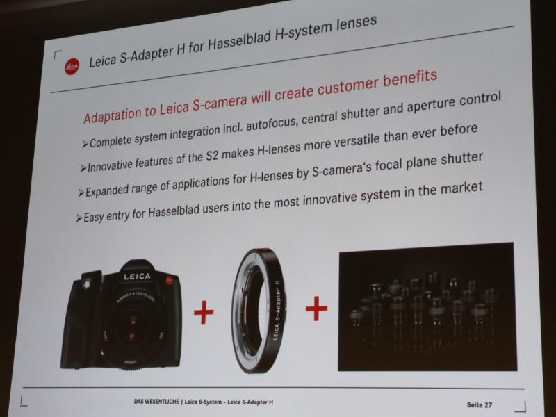 <b>ライカSシステム用Hアダプターの概要</b>