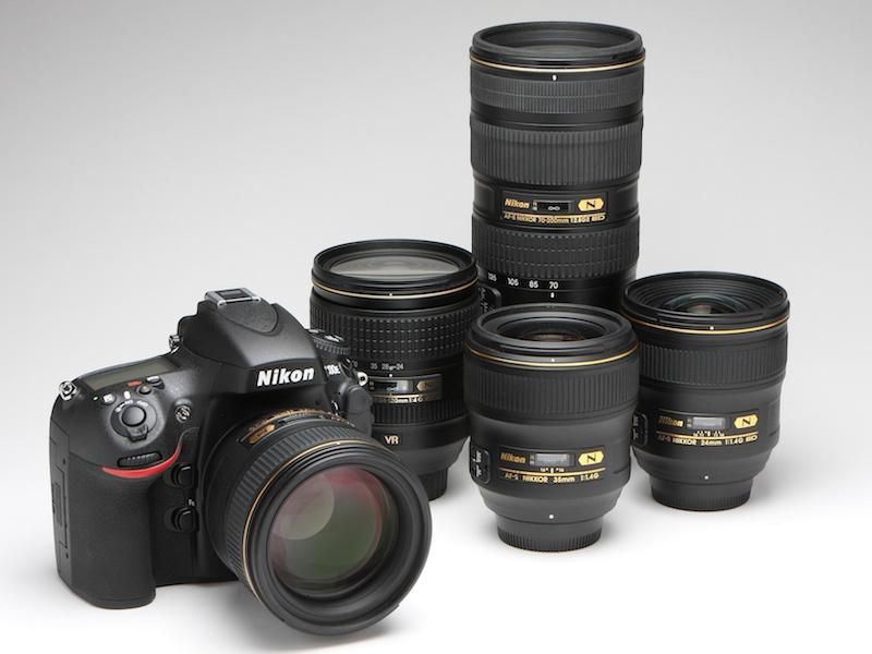 <b>今回の撮影で使用した推奨レンズ。AF-S NIKKOR 24mm F1.4 G ED、AF-S NIKKOR 35mm F1.4 G、AF-S NIKKOR 85mm F1.4 G、AF-S NIKKOR 24~120mm F4 G ED VR、AF-S NIKKOR 70~200mm F2.8 G ED VR IIの5本。いずれもクリスタルコートを採用する。</b>