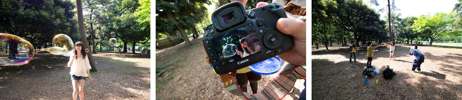 <b>この日は「デジキャパ!」6月号(学研パブリッシング)の初心者向けのテクニック講座ページの撮影現場、代々木公園や裏原宿などへお邪魔して、ついでにボクも同じテクニックで撮ってみた(笑)。モデルで登場しているのは澤田園子さん。デジキャパ! 編集部の三木さん、池田さんオツカレサンでした!</b>