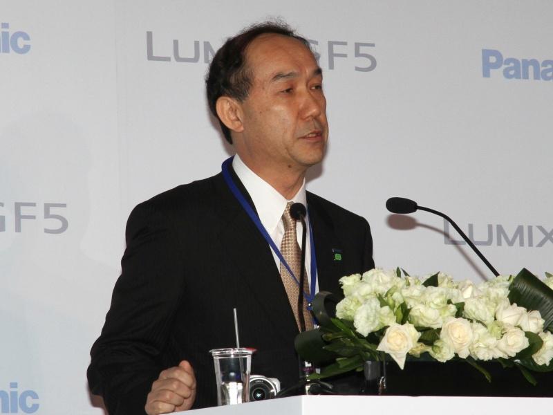 <b>パナソニック株式会社AVCマーケティング本部 本部長の西口史郎氏</b>