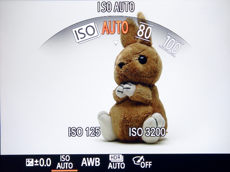 <b>ファンクションメニュー(ISO感度)</b>