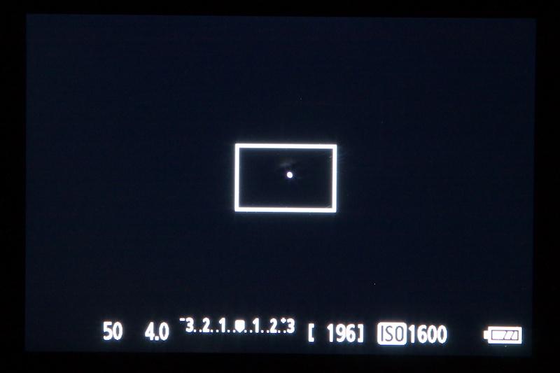 <b>大きな点光源や強い点光源を見つけたら、拡大してピントを合わせる</b>