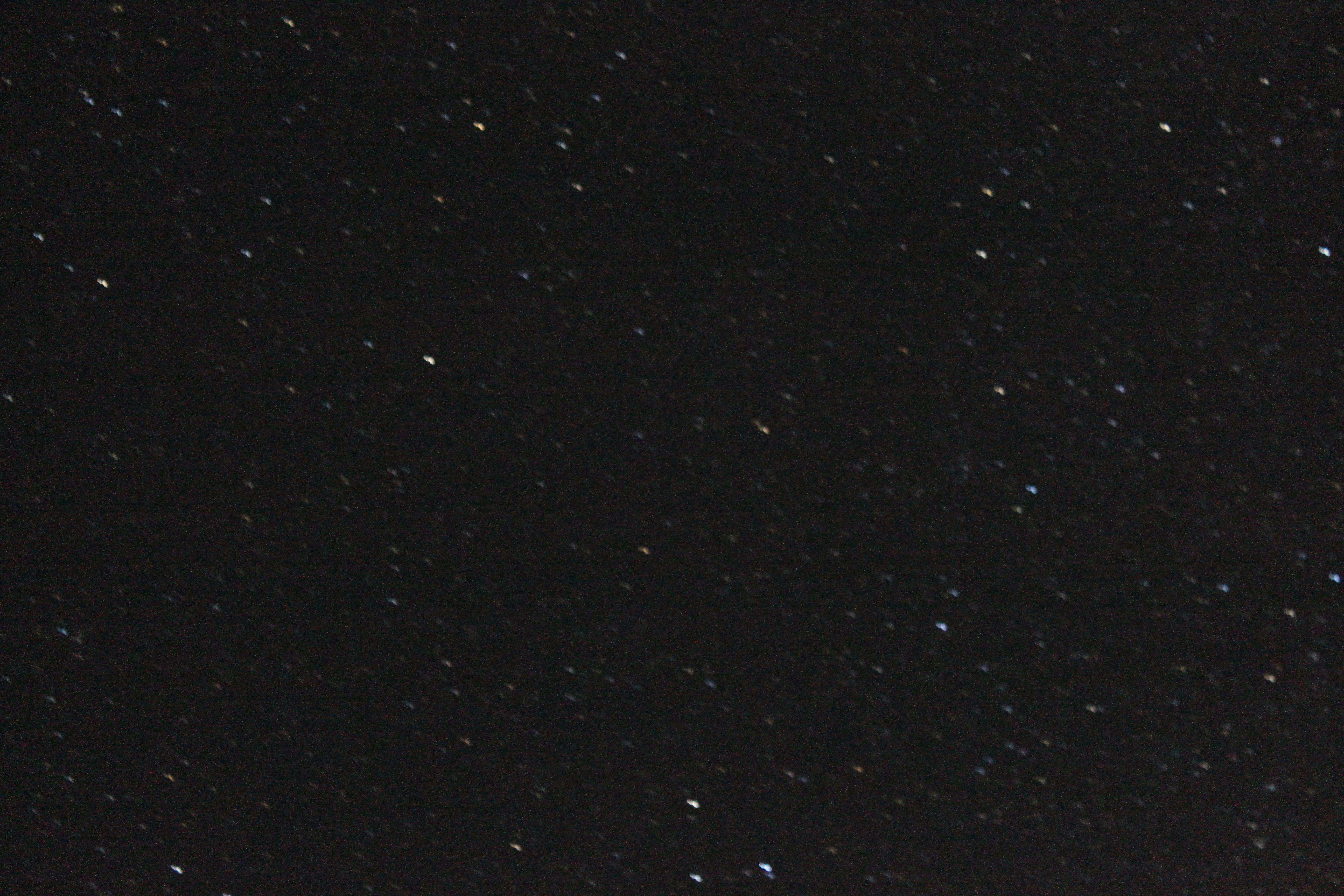 <b>露光時間を同じにしたまま、焦点距離を変えて撮影。55mm</b>