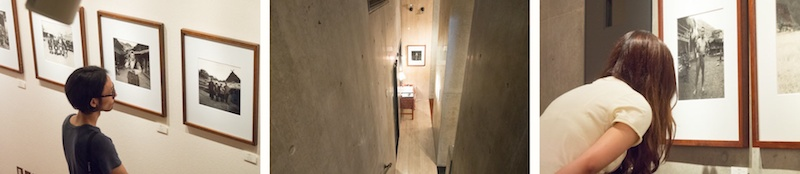 <b>「ヒヨシ」本校取材の1週間後。この日は学生さんたちと一緒に写真ギャラリーをまわって作品を鑑賞するという授業だった。こちらは御茶ノ水から徒歩5分くらいにある、田村さんも数年前に個展を開催されたことのある「ギャラリー・バウハウス」。閑静な住宅街の中にあるコンクリート打ちっ放しのオシャレな建物。国内外の写真作家の上質なプリント作品展を約2カ月毎に入れ替えて開催している。プリントは展示のみならず販売されているのでココで気に入った作品を購入もできる。オーナーは写真家でもある小瀧達郎さん。</b>