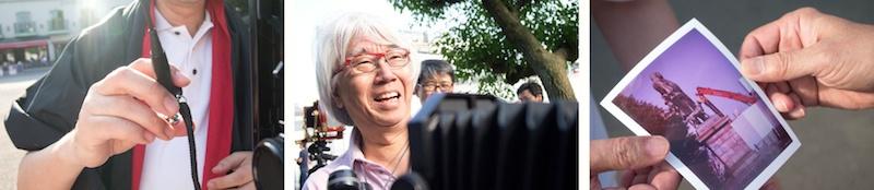 <b>上野公園にて4×5カメラを使っての撮影会。</b>