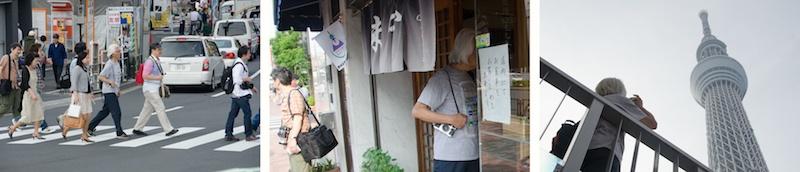 <b>東京の下町散策をしながらのスナップ撮影実習。この日はオープンして間もないスカイツリーがある押上界隈を歩いた。</b>