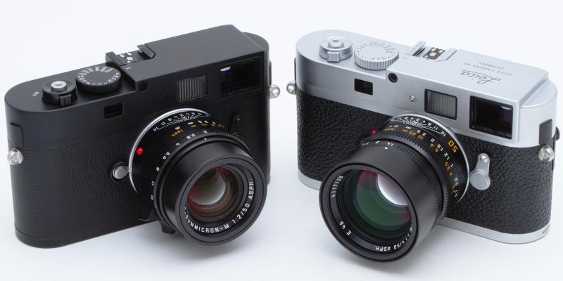 <b>ライカMモノクロームとライカM9-P(右)。外観シルエットは全く同じだ。なおM9-Pに装着しているレンズは、ライカ ズミルックスM f1.4/50mm ASPH.。</b>